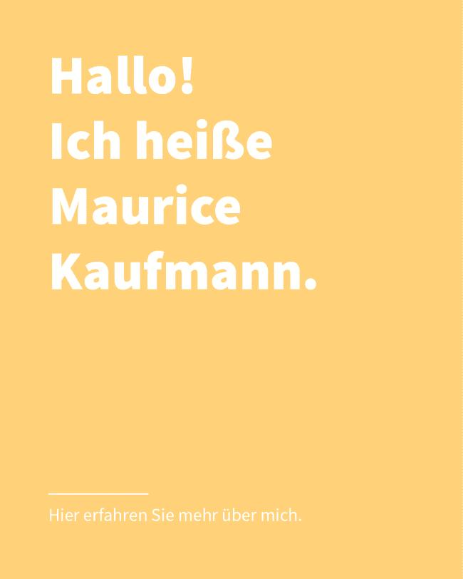 Über mich - Hier erfahren Sie mehr über Maurice Kaufmann - Fotograf in Düsseldorf
